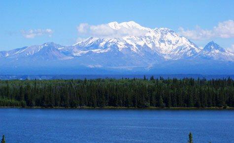 Mt Drum as seen during our Alaska bike tour