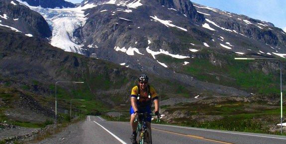 Biking across Thompson Pass