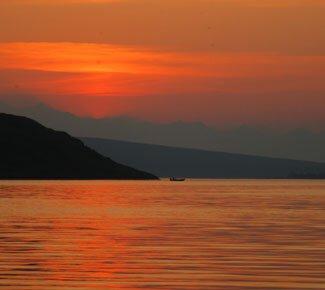 Sunset at Summit Lake