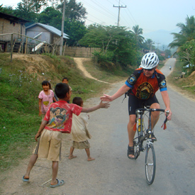 bike tours in Laos
